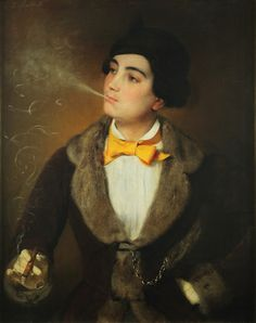 "Louise Aston, 1814-1871, German revolutionary democrat and feminist, known for her ""liberated"" behaviour, wearing pants, smoking cigars, drinking beer in public."