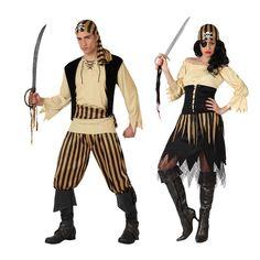 Costumes pour couples Pirates Jaunes #déguisementscouples
