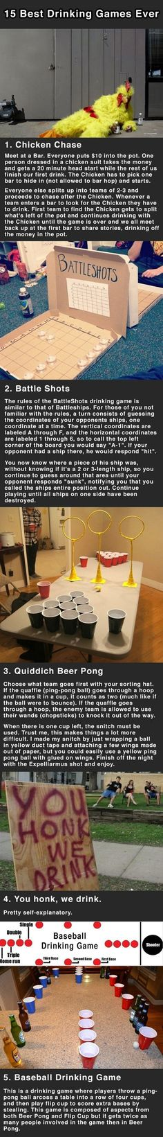 If I were still in college....15 Drinking Games