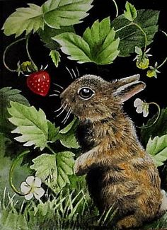 Small animals and darling woodland critter art by Melody Lea Lamb. All created in colored pencil, India ink and acrylic.