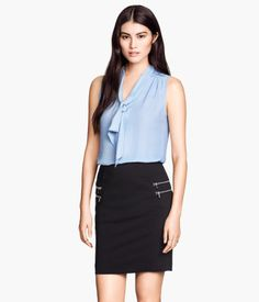 H&M US--Sleeveless Tie Blouse $24.95 http://www.hm.com/us/product/26400?article=26400-C