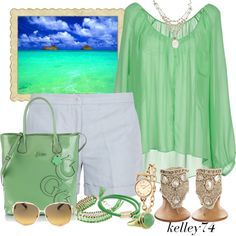 """You'll Find Me by the Sea"" by kelley74 on Polyvore"