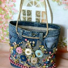 diger sayfam👉 hoby_knit hoby_knit hoby_knit hoby_knit hoby_knit linda chen - The world's most private search engine Artisanats Denim, Denim Purse, Jean Purses, Purses And Bags, Diy Sac, Diy Tote Bag, Denim Crafts, New Handbags, Clutch