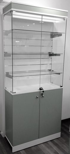 Ladeneinrichtungen, Geschäftsausstattungen Komplettangebot-Vitrine mit Lamellenwand SMALL Decor, Furniture, Room, Home Decor, Room Divider, Divider