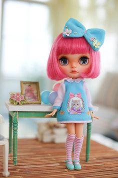 Juju'sBlythe outfit kindergarten-blue by MidsummerCircus on Etsy