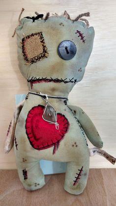 Voodoo doll Juju doll  art doll  zombie  rag by WonkyWaresBude