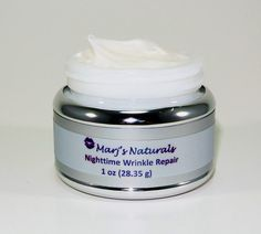 Nighttime Wrinkle Repair Cream, Organic, 0.5oz by MarjsNaturals on Etsy