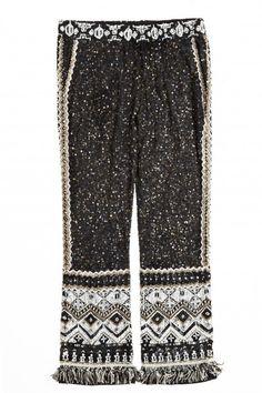 Tamarita Sequin Encrusted Silk Pant | Calypso St. Barth