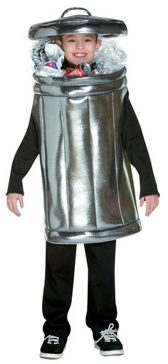 garbage can costume, ha!