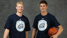 Chase Budinger and Chandler Parsons at the 2012 All-Star festivities in Orlando.