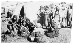 Groupings of Native American women, seated and standing