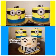 Minion  despicable me birthday cakes by The Sweet Life Bakery New Orleans www.nolasweetlife.com email info@nolasweetlife.com (504)371-5153 #nolasweetlife @nolasweetlife #70124 #nola