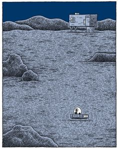 Tom Gauld is the book-lover's cartoonist. His comics appear regularly in populist high-minded publications like The Guardian and New Scientist, where they focus on literary genres, both fiction and nonfiction. They're silly, but in a serious manner, where the dry delivery renders the absurd amusing. Gauld demonstrates a very British way of executing humor—the appearance of noisy attention-grabbing is strenuously avoided for more casual methods of engagement. At the same time, the comics…