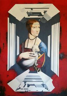 Secret Da Vinci- 2015 210x 144 cm  Oil on canvas  Müller Contemporary Art