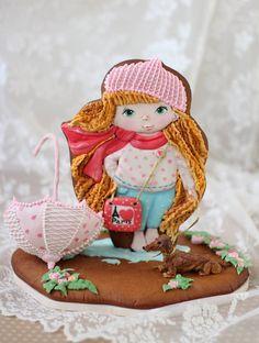 Cookies Пряничная девочка по мотивам куколки Наташи Cахаровой