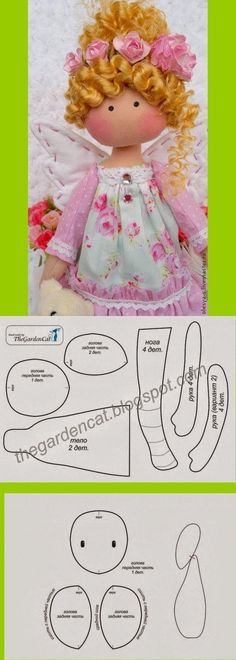 Ideas For Doll Pattern Free Sewing Cloth Doll Clothes Patterns, Doll Patterns, Sewing Patterns, Bjd Doll, Doll Toys, Rag Dolls, Sewing For Kids, Free Sewing, Doll Crafts