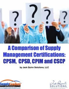 Differences of four Supply Chain Certifications Download — cpsm certification