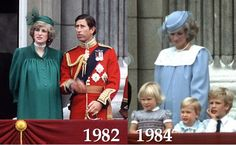 Diana's inaugural Trooping the Colour appearance