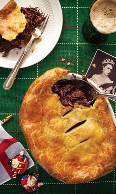 Recipe for Beef Cheek and Stout Pie with Stilton Pastry, from chef Daniel Doherty of London and New York's Duck & Waffle. Quiches, Beef Pies, Beef Cheeks, Beer Recipes, Fall Recipes, Pork Recipes, Cooker Recipes, Yummy Recipes, Recipies