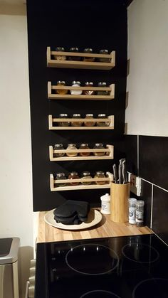 Looking for spice storage ideas? We have the Insp . - home accessories - Looking for spice storage ideas? We have insp Informations About Auf der Suche nach Ideen zur Aufbew - Diy Kitchen Storage, Home Decor Kitchen, Diy Storage, Home Kitchens, Diy Home Decor, Storage Ideas, Storage For Spices, Kitchen Ideas, Kitchen Racks
