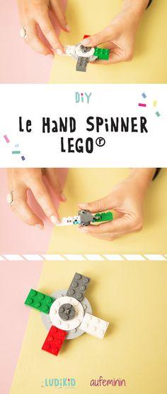 Savez-vous comment construire un hand spinner avec des briques Lego ? La liste du matériel est juste ici !