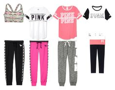 """""""Workout"""" by teen-girl-outfits ❤ liked on Polyvore featuring Victoria's Secret PINK and Victoria's Secret"""