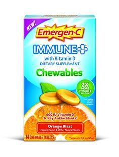 Emergen-C Immune Plus Chewables, Orange Blast, 14 Count Emer'gen-C... i got these FREE from Smiley360
