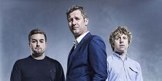 The Last Leg. Image shows from L to R: Alex Brooker, Adam Hills, Josh Widdicombe. Copyright: Open Mike Productions.