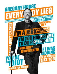 Everybody Lies in Typography Graphic Design Posters, Graphic Design Inspiration, Creative Inspiration, Typography Design, Lettering, Typography Quotes, Daily Inspiration, Gregory House, Layout Design