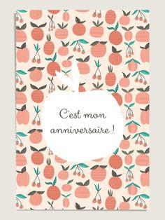 10 Cartes d'anniversaire : Pomme d'Amour
