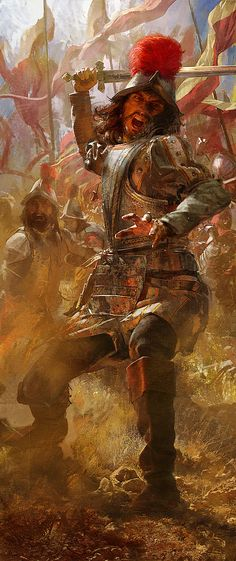 Mullins, Craig Spaniard Infantry Fighting (Game- Age of Empires, III) Conquistador, Military Art, Military History, Fantasy World, Fantasy Art, Craig Mullins, Colombian Art, Terra Nova, Age Of Empires