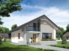 Kliknij aby zamknąć Home Design Plans, Small House Plans, Home Fashion, Beautiful Homes, Exterior, House Design, Cabin, Mansions, Studio