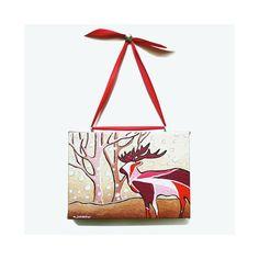 Deer Art Acrylic Painting Wall Hanging Animal Art by hjmArtGallery, $54.00 #Rt #etsysns