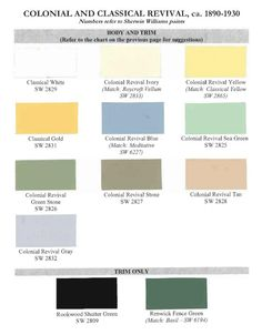 Historic paint colors for classical revival houses    ...BTW,Please Check this out:  http://artcaffeine.imobileappsys.com