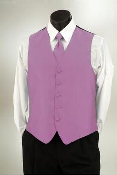 Wild Orchid Imperial vest and matching tie at Tuxedo Junction
