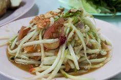 Thanks to favorite-restaurants.... Hai Som Tam, Bangkok - Isaan food: grilled chicken, sticky rice, papaya salad . . .