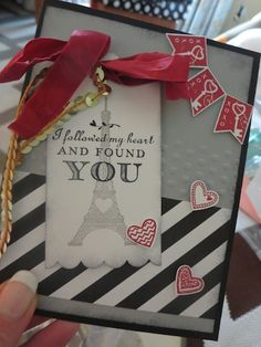 Valentine Card using Follow My Heart & Language of Love stamp sets… Stampin' Up!® - Stamp Your Art Out! www.stampyourartout.com