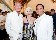 PARRISH ART MUSEUM'S 2014 MIDSUMMER PARTY: Randy Kemper, Linda Fargo, and Tony Ingrao. Photo by Owen Hoffmann / PatrickMcMullan.com