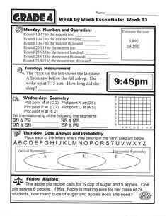 13 Best 4th Grade Homework Sheets | images | Homework sheet ...