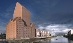 Ortner & Ortner - Proposal for the renovation of a historic port building to the German national archive, Duisburg 2012