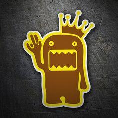 Pegatinas: Domo kun con corona #coche #pegatina #sticker
