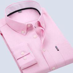 Mens Solid Color Turn-down Dress Casual Long Sleeve Fashion Business Cotton Shirt 7 Colors at Banggood
