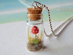 FREE SHIPPING Mini miniature mushroom in a miniature by zzzengirl, $16.00