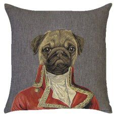 Pug Thierry Poncelet Belgian Tapestry Cushions http://www.abentleycushions.co.uk/detail.asp?pID=2608