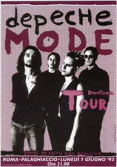 Depeche Mode. My favorite tour poster