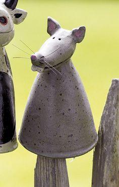 Pfostenhocker Maus