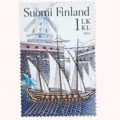 Time Travel, Postage Stamps, Sailing Ships, Boat, Paper, Christmas, Seals, Finland, Door Bells