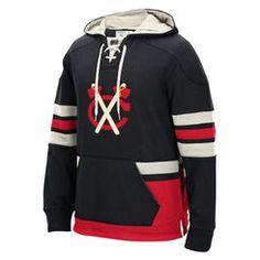 Chicago Blackhawks CCM Alternate Logo Pullover Hoodie - Black