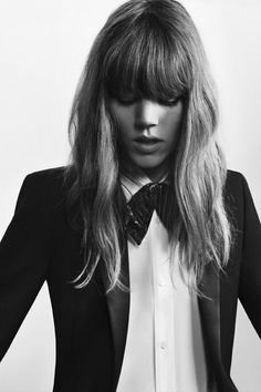 Freja Beha Erichsen by Hedi Slimane for Saint Laurent, 2013.