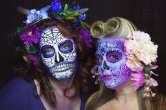 Hope Shots Photography Artist Unique Irish Model Lindsey J and Marcy M. Sugar Skull Face painting